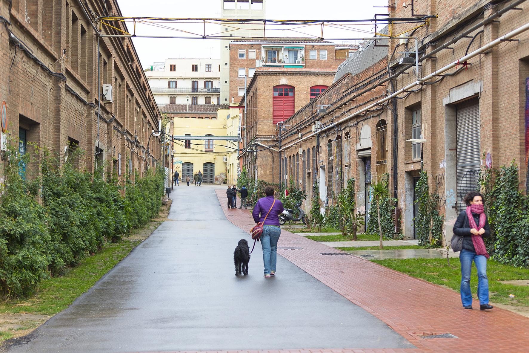 Provisional urbanization of Can Batlló