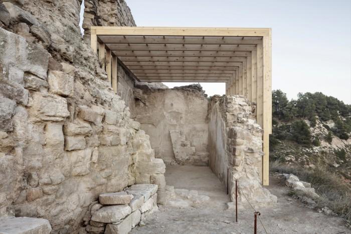 Landscape and chapel of Jorba Castle