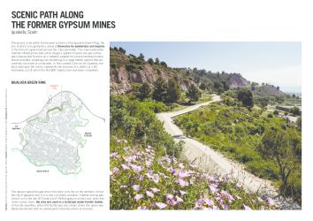 Path along Igualada's old gypsum mines