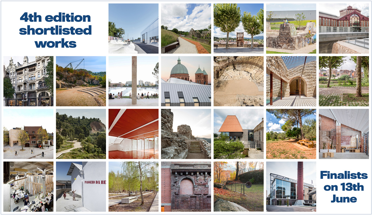 The European Award for Architectural Heritage Intervention AADIPA publishes the names of those shortlisted in the A and B categories of the contest's 4th edition