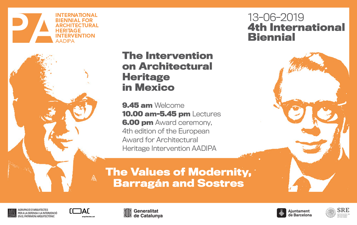 Mexico, guest country of the 4th edition of the International Biennial for Intervention in Architectural Heritage AADIPA