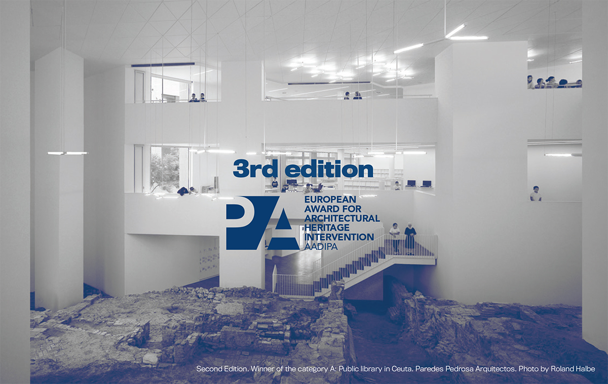 The participation figures and the quality of the proposals of the 3rd call for the European Prize for Architectural Heritage Intervention AADIPA reaffirm its notoriety and reputation.