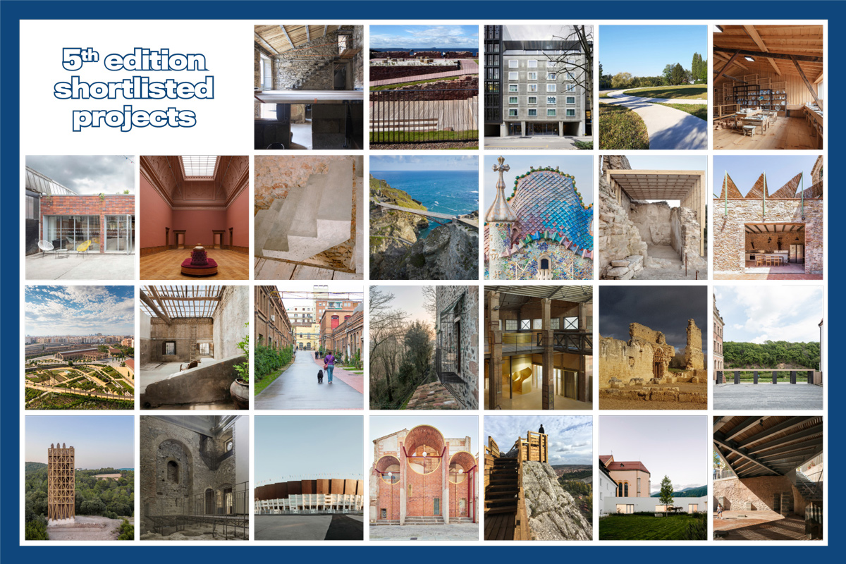 The European Award for Architectural Heritage Intervention publishes the names of those shortlisted in the A and B categories of the contest's 5th edition